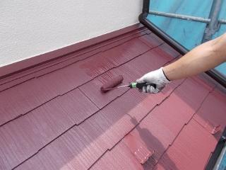 屋根の塗料も無機ハイブリッドを使いました。環境が良い場所なら20年長持ちする優れ物です