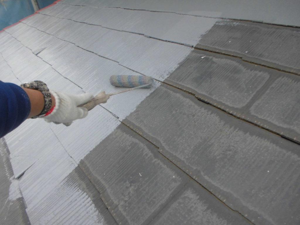 タスペーサー取り付け後に、中塗り工程を行っていきます。