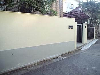 汚れてくすんでいた門壁もきれいになりました。