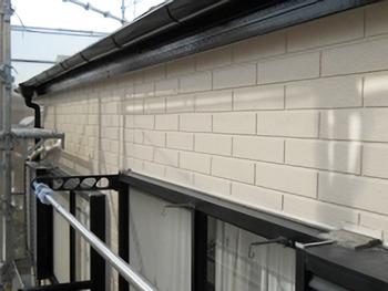 雨樋もあわせて塗り替えました。