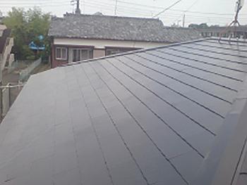 屋根の塗装も均一に仕上がりました。