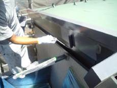 付帯部分は弱溶剤タイプのシリコン樹脂で3回塗りをしました。