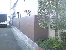 塀上塗り後の様子です。